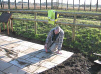 Bandstand Project - laying the paving slabs